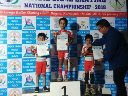 Pre-Primary AVM, Juhu student Mst. Aymaan Mistry wins two gold medals at the national level.