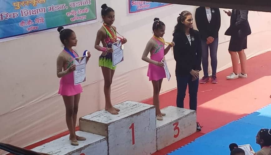 Our Stars at the11th Rhythmic Gymnastics District Championship