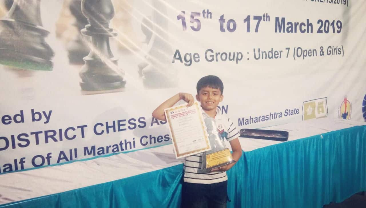 Hriday Maniar's Achievement in the Chess Tournament