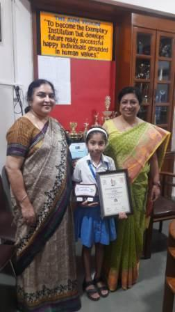 Judo Excellence Award for Arshia Rai (Class 3B)-AVM, Juhu