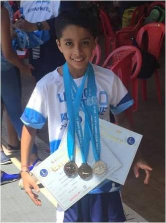 SHRAY MAKES A RICH HAUL WINNING 5 MEDALS @ OTTERS CLUB OPEN SWIM MEET-AVM, JUHU