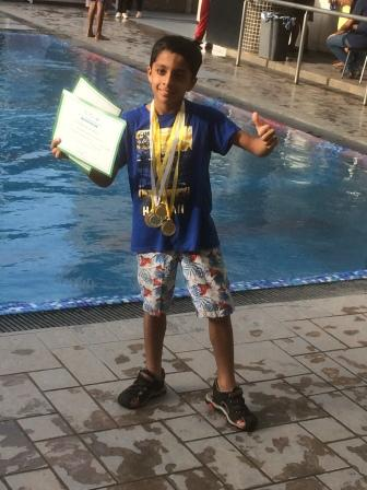 Shray Bhalla rakes in 4 gold and a silver in swimming, AVM Juhu