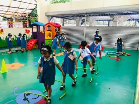 AVM Juhu – Pre -Primary 'Engaging Minds' Club Activity  –  'Structured Physical Activities & Movement Challenges'.
