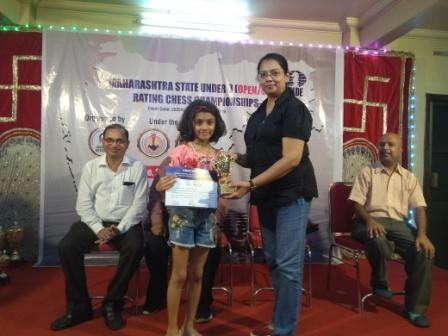 Maharashtra State Chess Tournament win for Prisha -AVM, Juhu