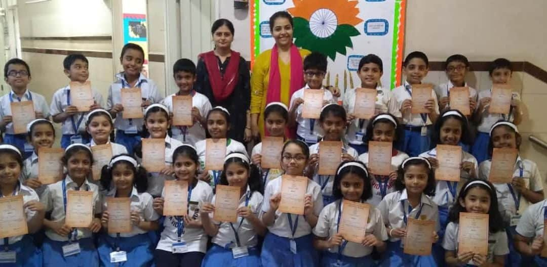 Inter-House English Handwriting Competition, Primary Section – AVM, Juhu