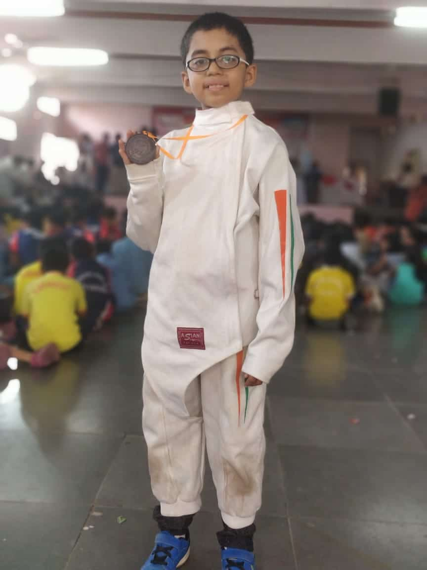 Bronze for the little fencer of Bandra West !!