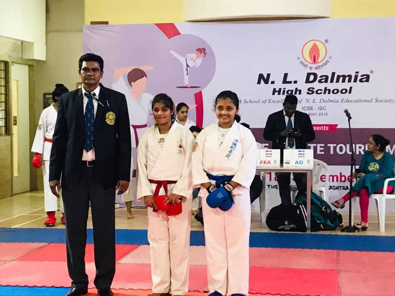 Miss Adhya Shetty: Gold Medal – AISM Karate Competition!