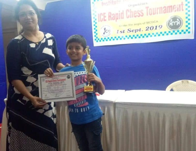I.C.E. Chess Champion- Hriday Maniar