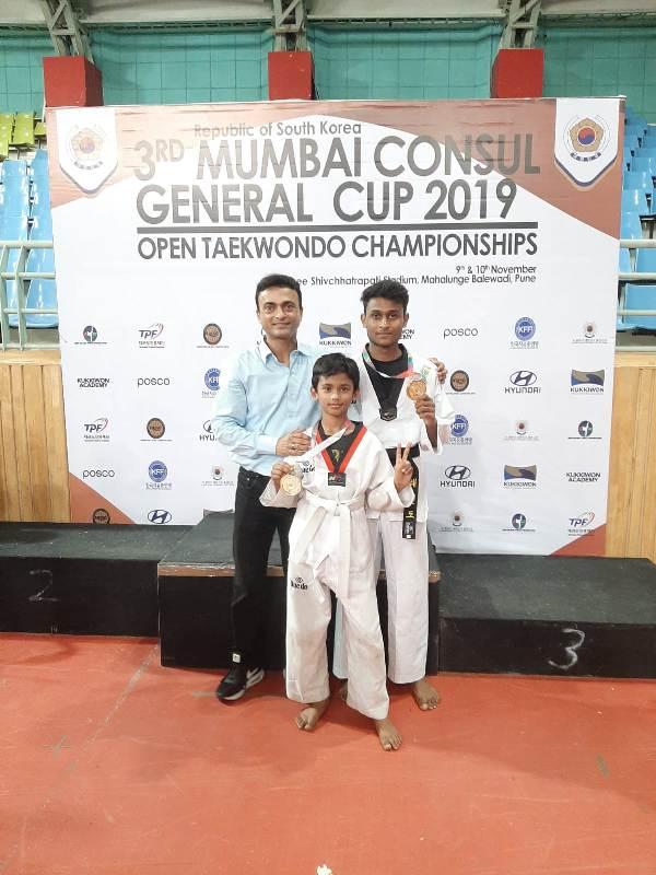 Om Paralkar, our Young Taekwondo Gold Medalist!!