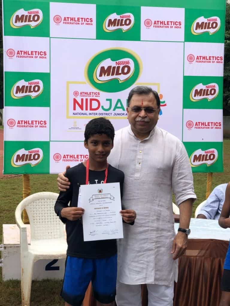 Master Shoubhit Chalake shines at the Bombay District Athletic Meet(BCDAA)