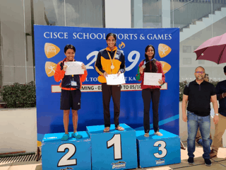 Mallika's piles up her Medal Tally at the CISCE National Swimming Events!!