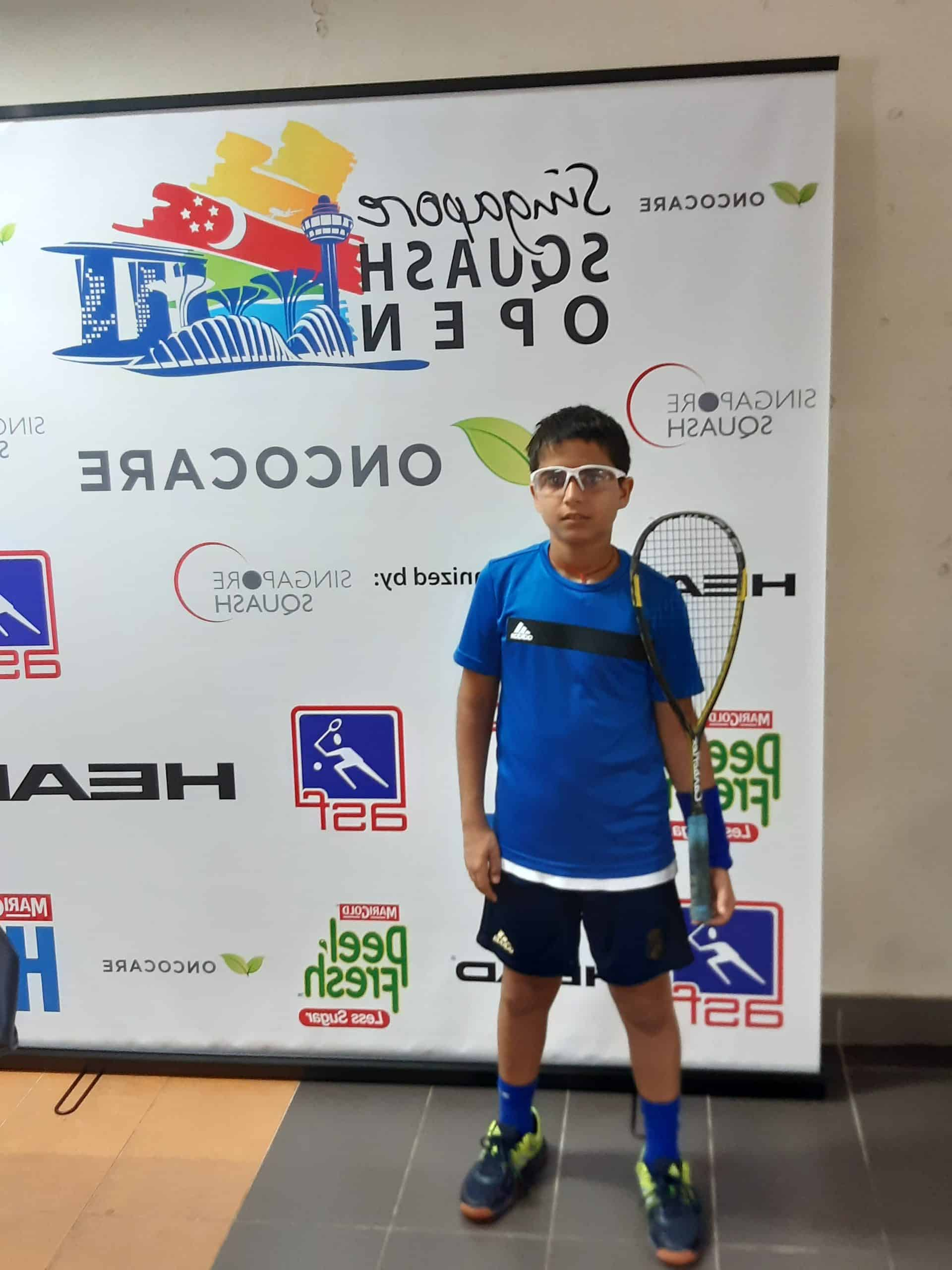 Anshuman , the proficient Squash player of Bandra West makes a mark in the international scene!!
