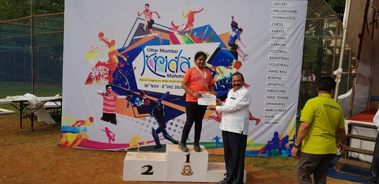 Miss Krsna J Naik bags Gold at Poinsur for Recurve Bow