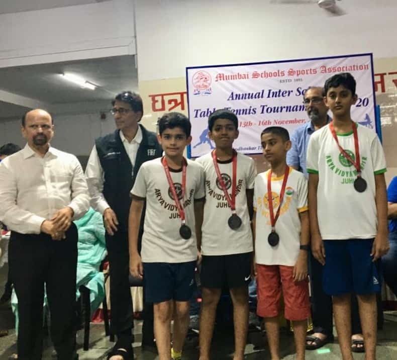 Achievement of AVM Juhu at the MSSA Table Tennis Tournament 2019