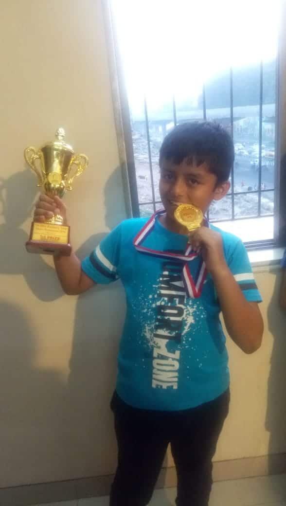Hriday wins Gold in the Inter-Academy Championship