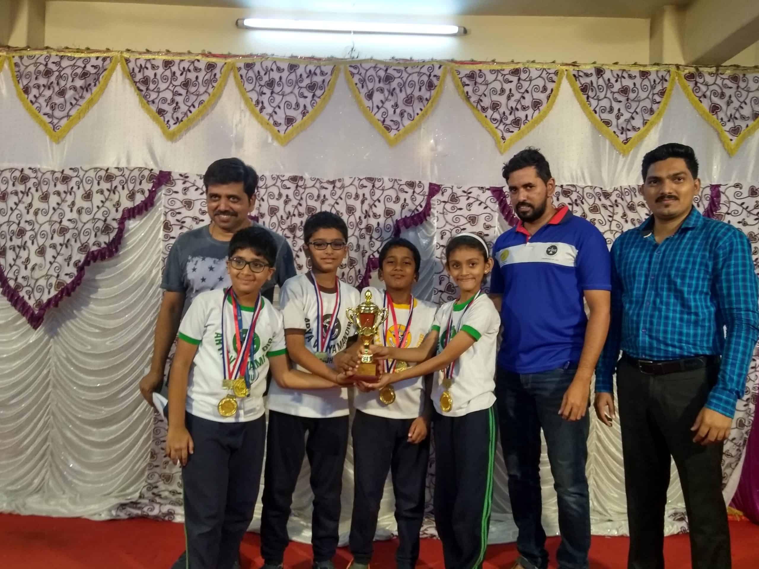 Chess Championship Trophy at Inter School Team Chess Championship – AVM, Juhu