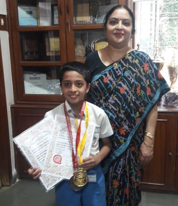 MSSA Swimming Gold and Bronze for Shray Bhalla- AVM, Juhu