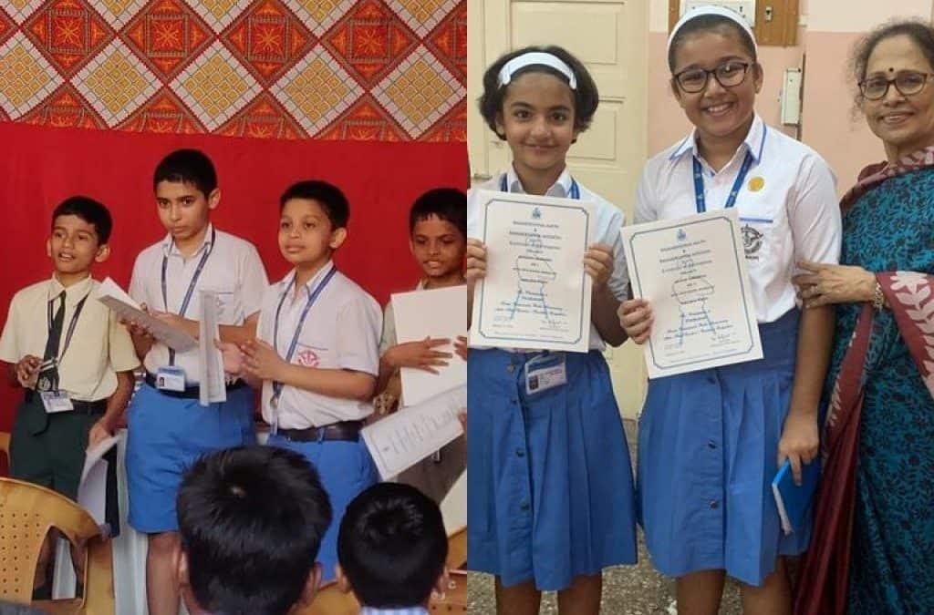 Laurels at the Vivek Utsav English Elocution Competition