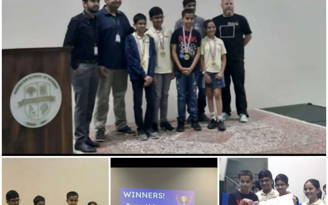 1st Rank and a Gold Medal for AVM BW boys for speed and precision at the Robotic Competition!!