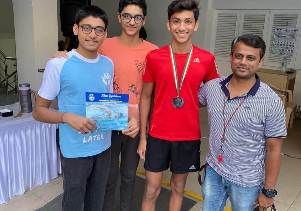 Jaiveer Motwani's , the competent swimmer shares his prize for a good cause