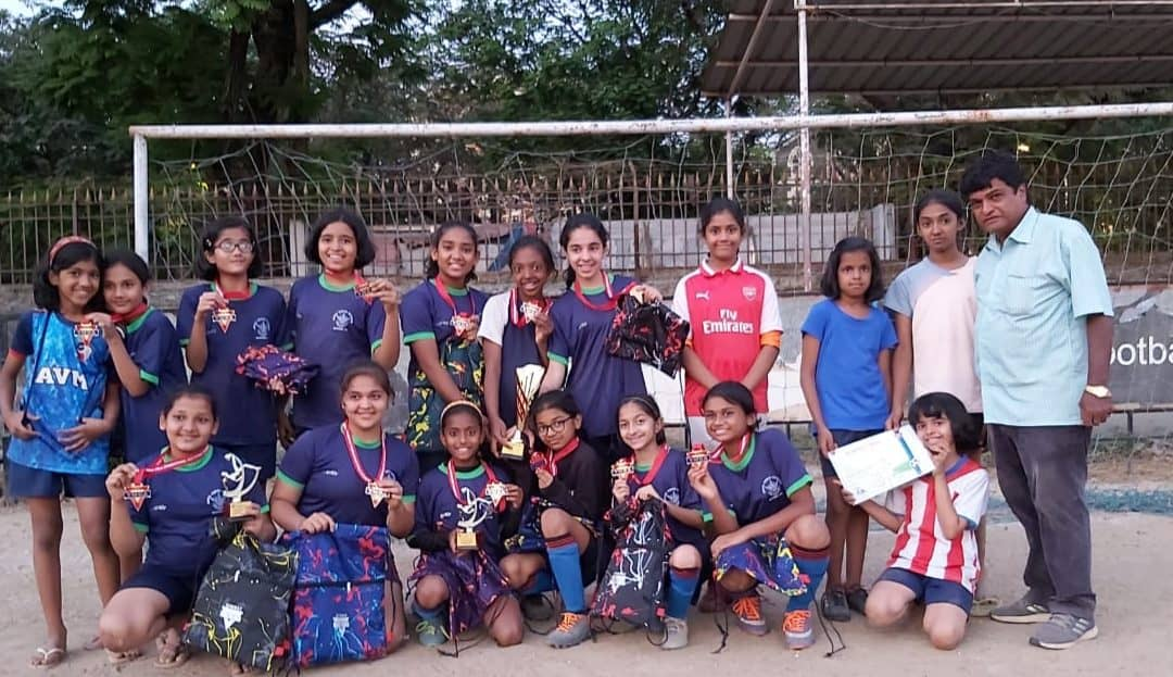 Prodigious achievement by the Girls Under /12 Football Team of AVMBW !!!!