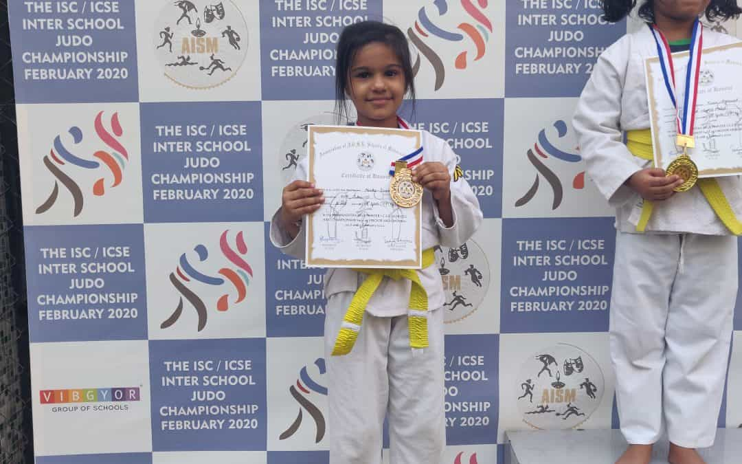 AISM Judo medals for Aarika, Palash and Kavya – AVM, Juhu