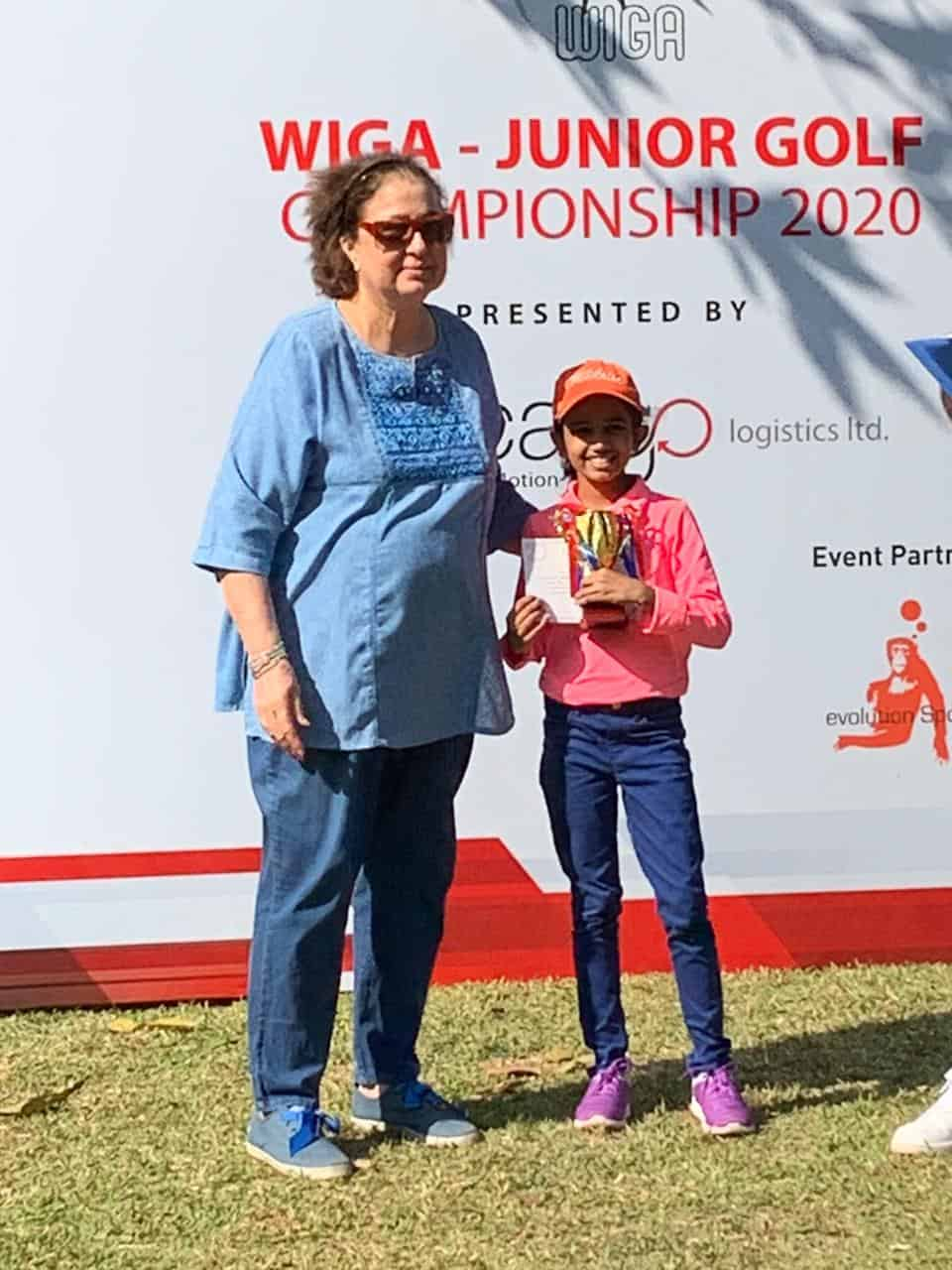 Miss Nidhi Menon won the WIGA Junior Open Golf Tournament!!