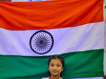 Praiseworthy achievement of little Avanti from AVMBW at the Indo-Nepal International Yoga competition!!!