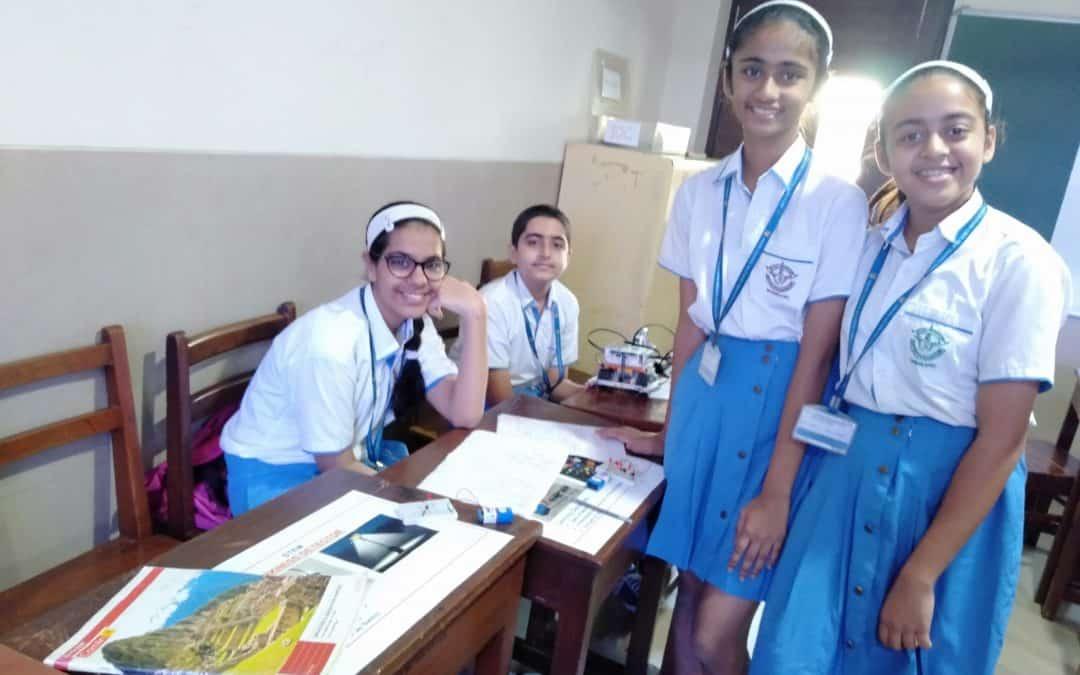 STEM exhibit by Std. VIII and IX students