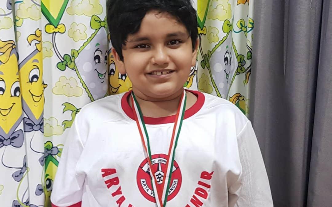SOF English Olympiad Gold medal for Pulastya – AVM, Juhu