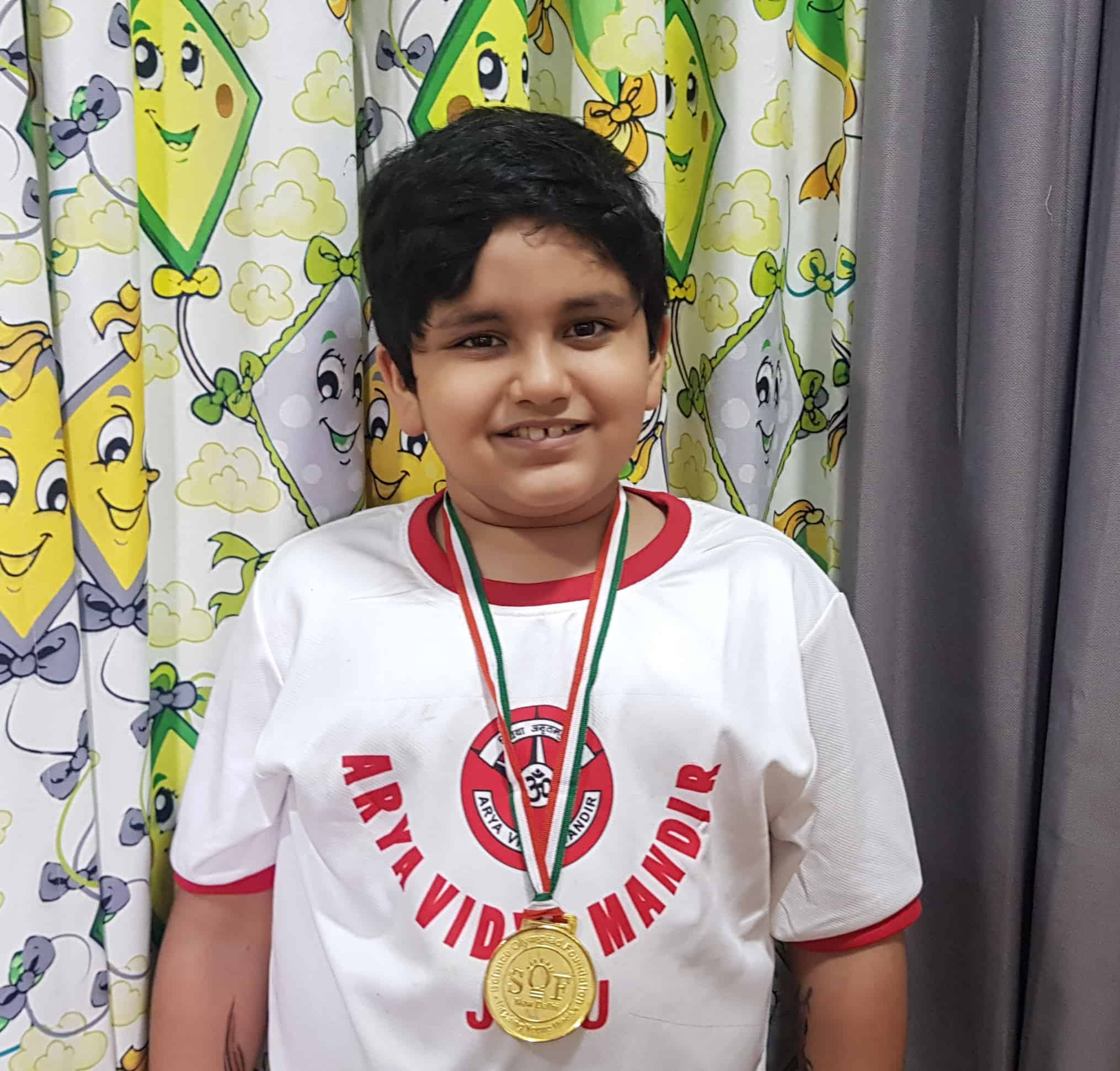 SOF English Olympiad Gold medal for Pulastya – AVM, Juhu