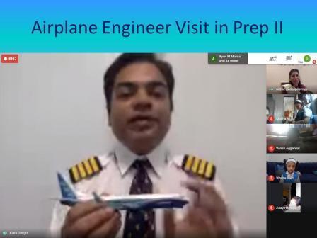 Report on Flight Engineer Mr. Asit Dongre's visit in AVM Juhu's Prep II classes