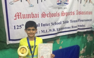 MSSA Table Tennis Silver for Daksh Talwar ; AVM ,Juhu