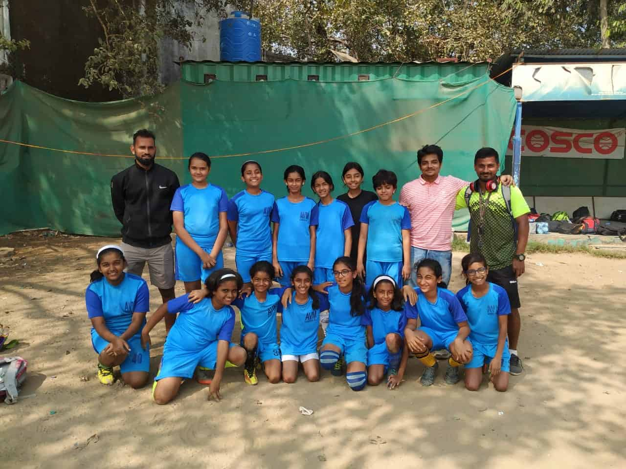 It's celebrations time for the U/12 Girls Football Team @vVCW AVM