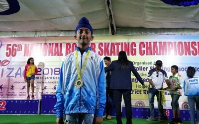 GOLD MEDAL IN NATIONALS ROLLER SKATING CHAMPIONSHIP by Mst. JASHN S. ARORA of AVMBW
