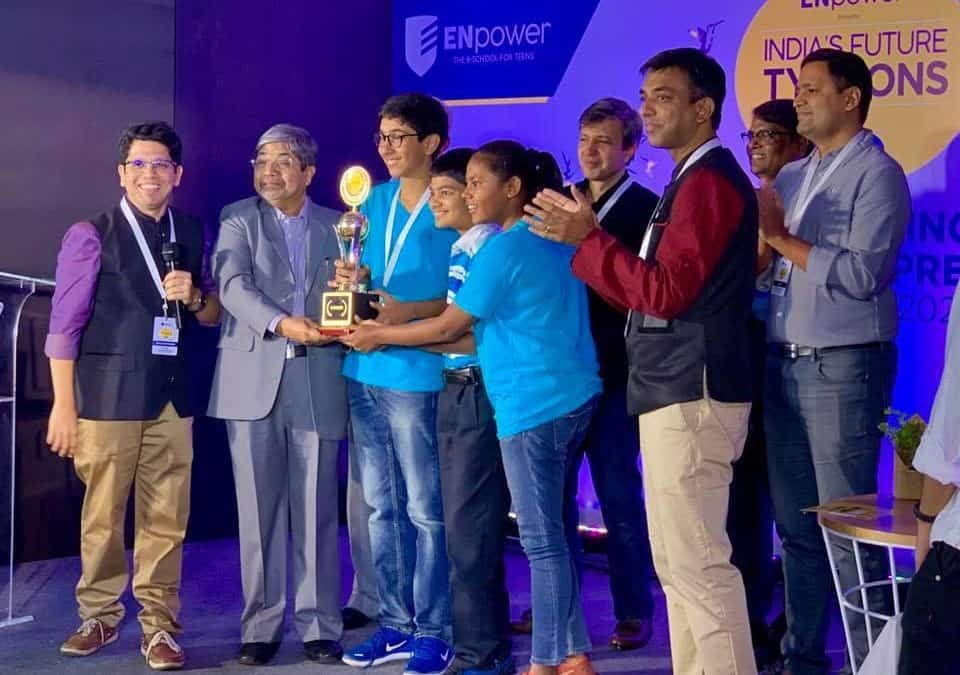 National Winners at the Empower India's Future Tycoons Competition 2019