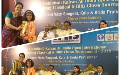 Two Chess trophies for Prisha Kesarwani, Std 2 A, AVM – Juhu