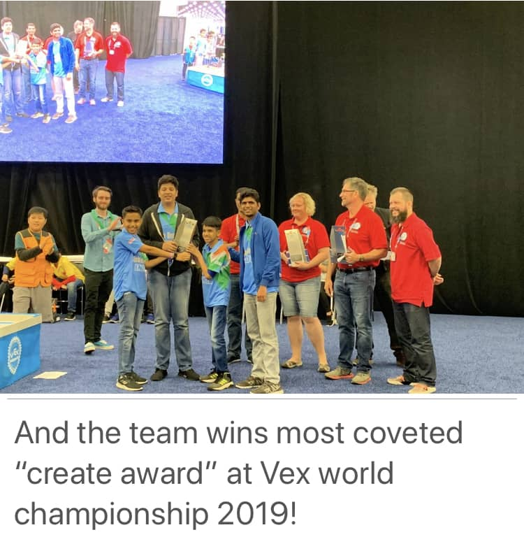 Brilliant young techies of AVM Bandra West shine in the International arena!! ( Vex World Robotics Championship)