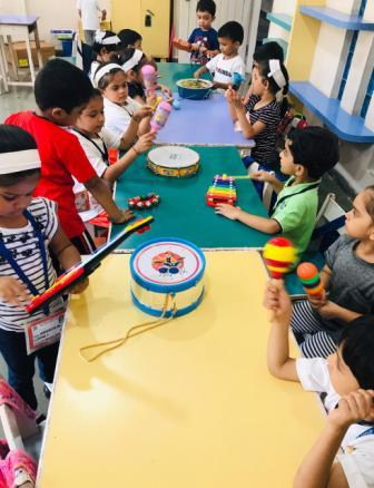 Sound of Music- An inspiration for creative art for Pre-Primary children of AVM Juhu