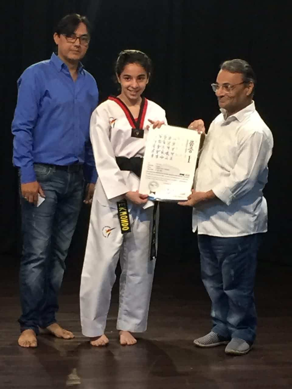 Wondrous feat by Kainaaz of AVM Bandra West in Taekwondo !!