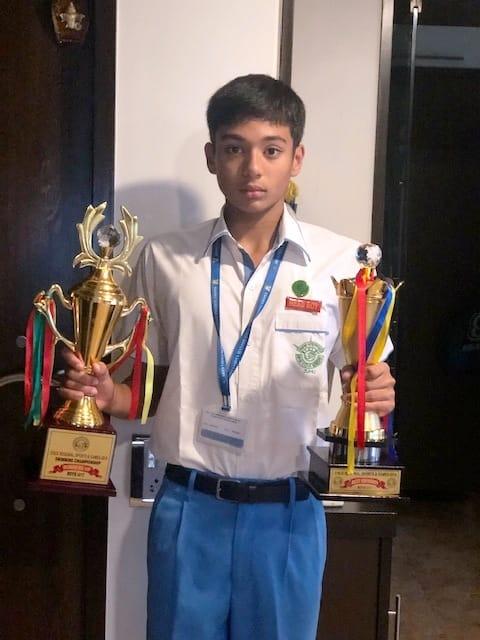 Sparkling achievement of AVM Juhu's Head Boy Mst. Srish Maulik