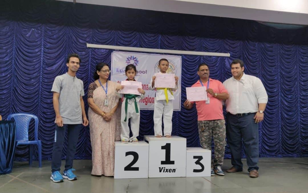 Saanvi wins Silver at AISM Taekwondo Tournament