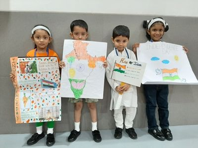 Our Young Patriotic Students-  A Unique  Independence Day Assembly