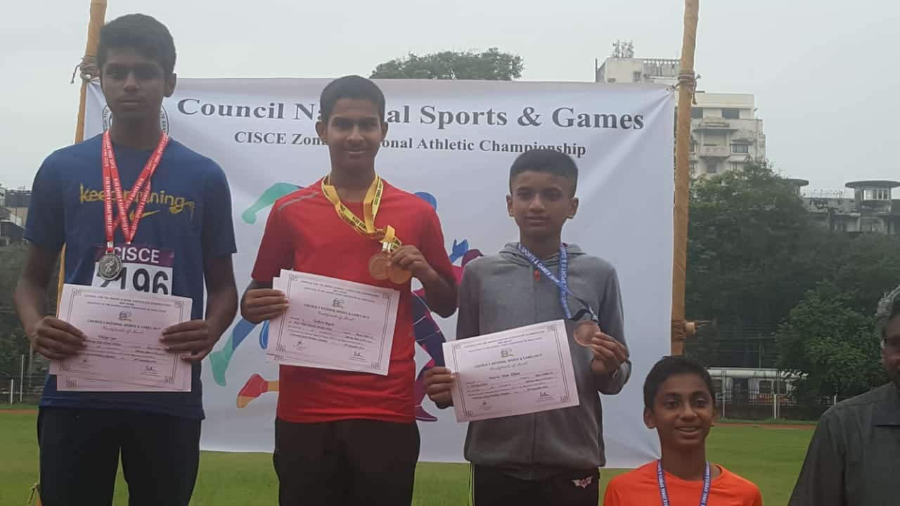 Yashorit Bagchi of AVMBW clinches the Championship Trophy at the CISCE Athletic Meet!!