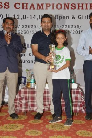 2nd position for Prisha Kesarwani at State Chess Championship -AVM, Juhu