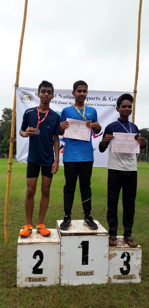 Yashorit Bagchi , the nimble footed sprinter of AVM Bandra West bags the Gold at the CISCE Athletic Meet