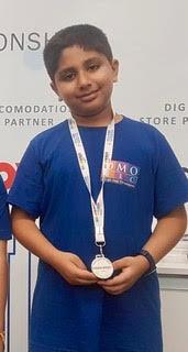 Aarav Mehta's achievement at the World Robotics Olympiad, 2019-AVM, Juhu