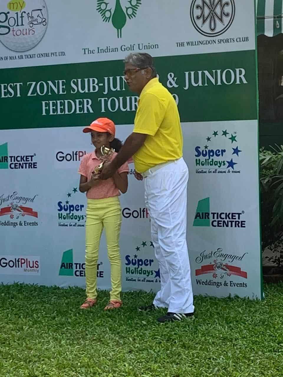 Miss Nidhi Menon: Second Runner-Up – Indian Golf Union West Zone Feeder Tour