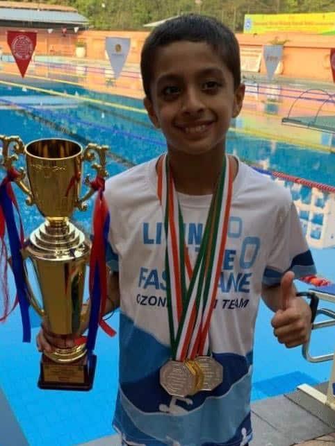Triple gold for Shray at CSMSS swimming championships – AVM, Juhu