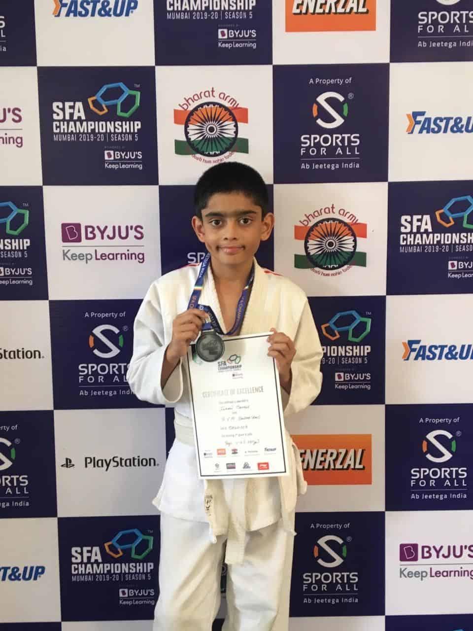 Master Ishaan Mahale kicks his way to Silver at the SFA Judo Championship Tournament